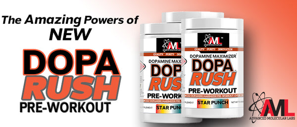 The Amazing Powers of NEW Dopa Rush Pre-Workout!