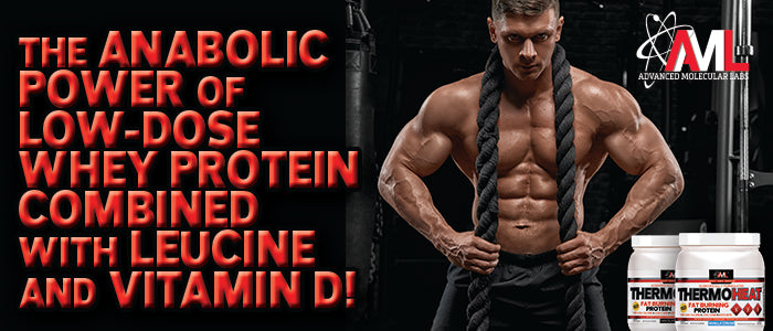 THE ANABOLIC POWER OF LOW-DOSE WHEY PROTEIN COMBINED WITH LEUCINE AND VITAMIN D!