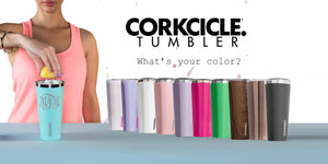 Corkcicle Tumbler Color Selection Monograms
