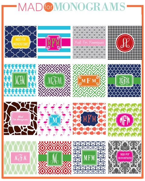 monogram pattern and font examples