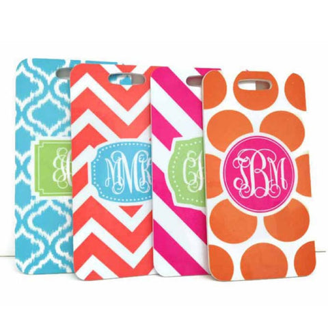 Monogrammed Luggage Tags