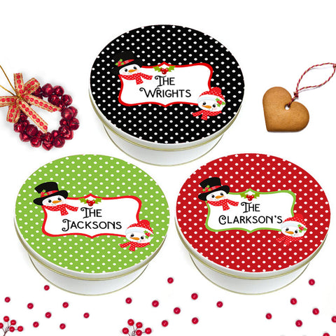 Chrismtas Polka Dot Cookie Tin