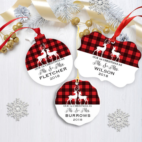 Mr. and Mrs. Christmas Ornament