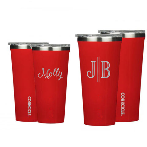 Monogram Cardinal Red Corkcicle Tumbler