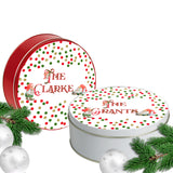 Christmas Gnomes Cookie Tin