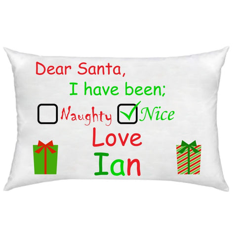 Christmas Naughty or Nice Pillowcase