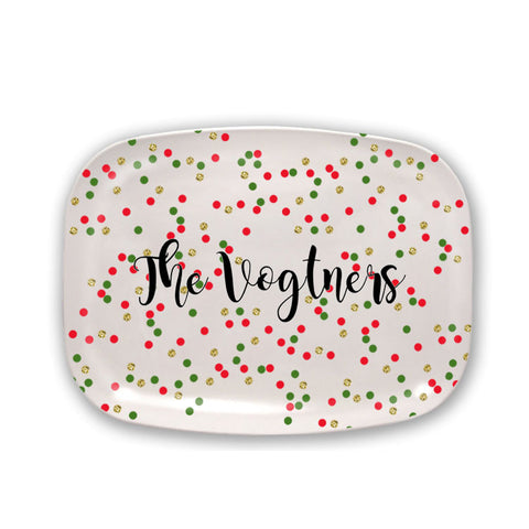 Personalized Christmas Cheese Platter