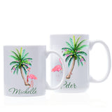 Christmas Flamingo Palm Mug