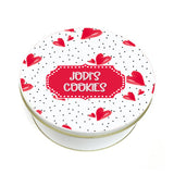 Personalized Love Dots Cookie Tin