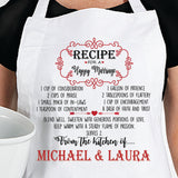 Personalized Happy Marriage Recipe Apron