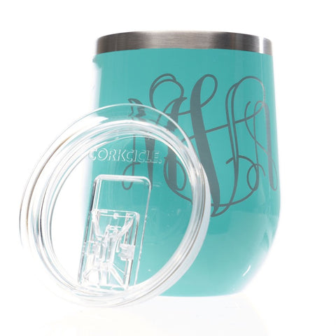 Monogram  Stemless Corkcicle  with Lid