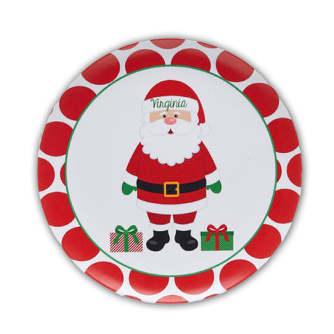 Personalized Kids Santa Christmas Plate