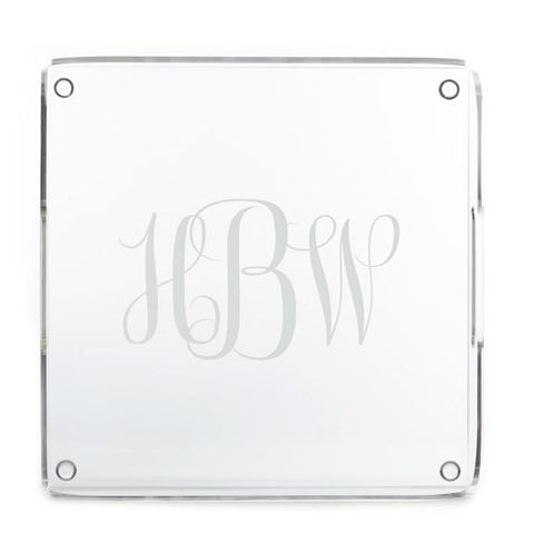 Monogram Square Acrylic Serving Tray