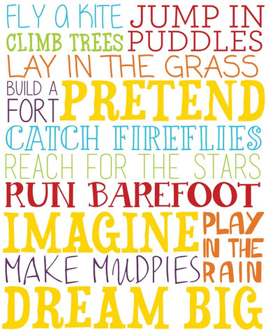 Jump In Puddles Canvas Wall Art