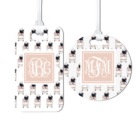 Monogrammed Chic Luggage Tags
