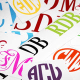 Monogram Stickers & Decals