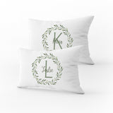 Personalized Wreath Pillowcase