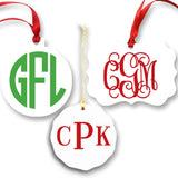 Monogrammed Christmas Ornaments