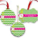 Personalized Preppy Ornament