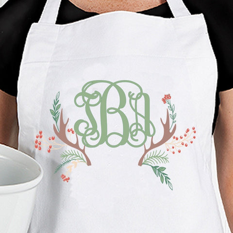 Monogram Christmas Apron