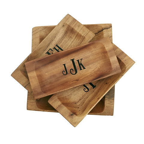Monogrammed Wooden Appetizer Tray