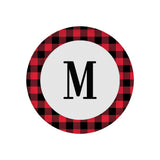 Buffalo Plaid Plate with Initial