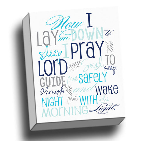 Bedtime Prayer Canvas Wall Art