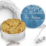 Christmas Blue Snow Cookie Tin