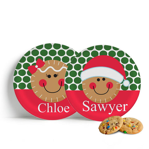 Christmas Gingerbread Face Plate