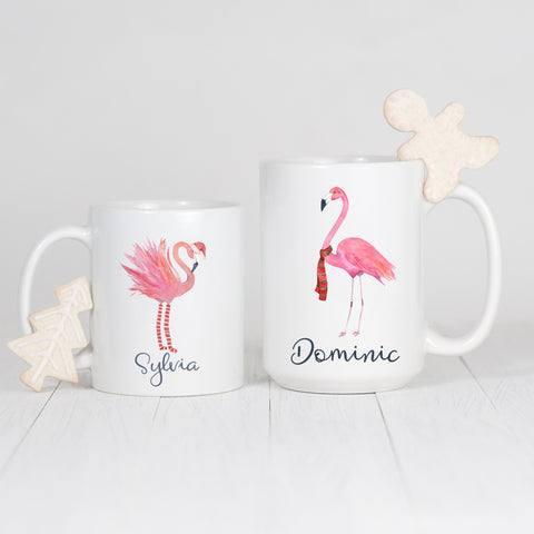 Christmas Flamingo Mug