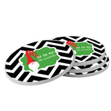 Personalized Santa Beverage Coasters