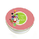 Personalized Kids Christmas Cookie Tin
