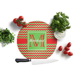 Personalized Christmas Chevron Cutting Board