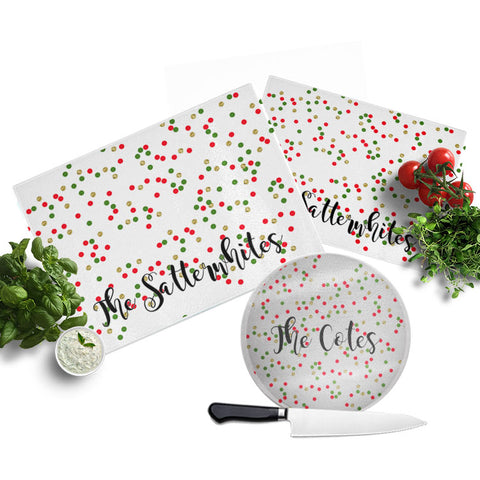 Personalized Christmas Glitter Cutting Board