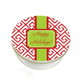 Red Christmas Maze Tin