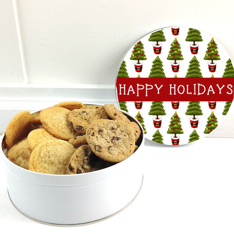Cookies in Chirstmas Tree  Tin