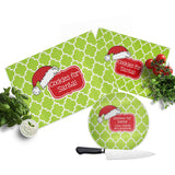 Santa Hat Lime Cutting Board