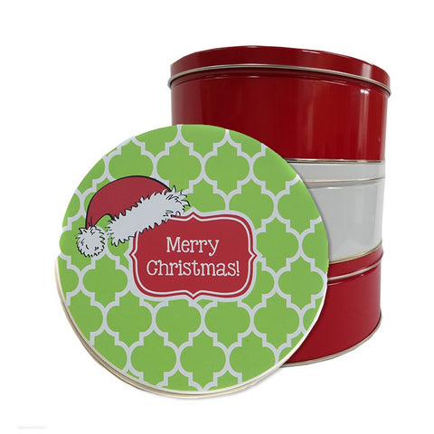 Personalized Santa Hat Cookie Tin