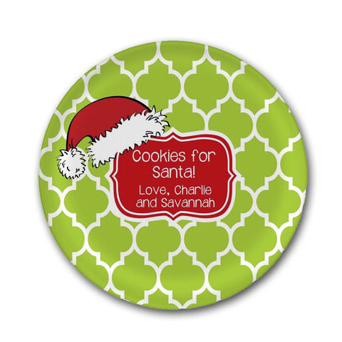 Personalzied Cookies for Santa Plate