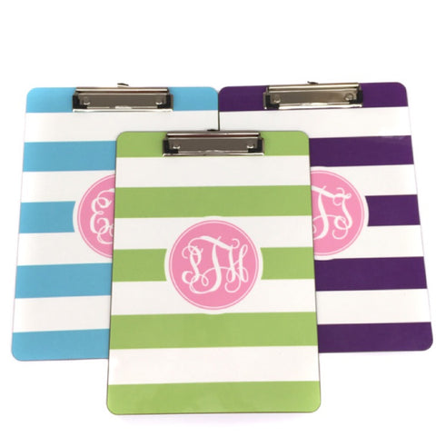 Monogram Striped Clipboard