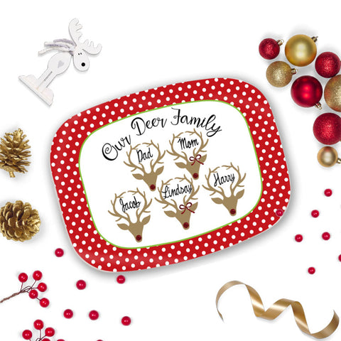 Personalized Reindeer Tray