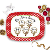 Family Name Christmas Tray with Reindeer