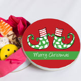Christmas Elf Feet Cookie Tin