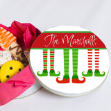 Elf Stocking Cookie Tin Personalized