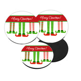 Personalized Elf Christmas Coasters