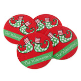 Elf Feet Christmas Coasters
