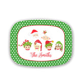 Elf Family Name Platter