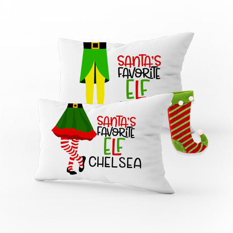 Elf Christmas Pillowcase