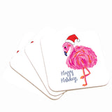 Christmas Flamingo Coaster Set
