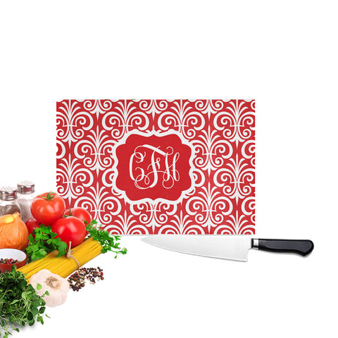 Personalized Christmas Fleur De Lis Cutting Board